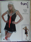 Sexy Flirty Sailor Girl Ladies Fancy Dress Hen Halloween Party Costume Outfit