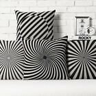 "Modern Spiral Stripes Pillow Case Decor Cushion Cover Square Linen 17"" / 20.87"""