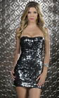 Sexy Two-Way Sequin Tube Sweetheart Neckline Cocktail Party Clubwear Mini Dress