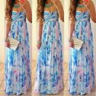 Sexy Women Summer Boho Long Maxi Evening Party Dress Beach Dress Sundress