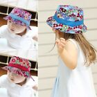 HOT Fashion Toddler Infant Sun Cap Baby Girl Floral Flower Beach Bucket Hat Cute
