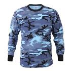 Rothco Long Sleeve Camouflage T-Shirt, Sky Blue Camo