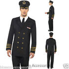 CL421 Mens Navy Officer Pilot Flight Captain Sailor Fancy Dress Costume Outfit