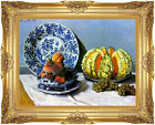 Framed Still Life with Melon Claude Monet Painting Repro Canvas Giclee Art Print