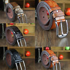 CHIC Hot Men's Western Casual Distressed Vintage Checkered Board Leather Belts