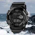 Mens LED Digital Date Alarm Waterproof Shockproof Sports Army Watch Wristwatch