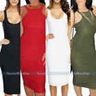 Women's Sexy Bodycon Stretch Sleeveless Pencil Vest Tank Club Party Casual Dress
