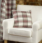 Red Check Eyelet Curtain Ring Top Lomond