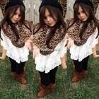 Baby Girls Lace Batwing Sleeve Tops Blouse O-Neck Toddler Tunic Pullover Shirt