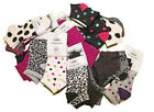 Pack of 12 Pairs of Women's Girls Printed Ankle Socks One Size UK 3-9