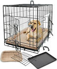 Pet Dog Cat Cage Crate Kennel and Bed Cushion Warm Soft Cozy House Medium