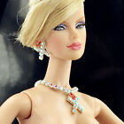 handmade jewelry Earrings Necklace for barbie fashion royalty dolls on bid N57