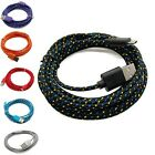 3/6/10FT Hemp Rope Micro USB Charger Sync Data Cable Cord for Samsung Cell Phone