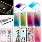 Hybrid Bumper Ultra Thin Clear TPU Back Case Cover For Apple iPhone 5 6 6S Plus