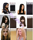 "New 16""-26"" 100% Remy Human Hair Tape Tip-in Extensions 20pcs/set More Colors"