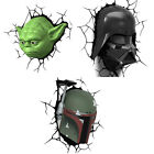 Star Wars: 3D Shaped LED Battery Wall Light - New & Official In Display Box