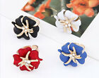 New Fashion Popular Women Girl's Starfish Flower Crystal Ring Finger Adjustable