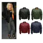 WOMENS MA1 ARMY PILOT BIKER BOMBER FLIGHT MILITARY VINTAGE HARRINGTON JACKET
