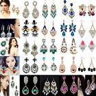 CH Fashion Women's Crystal Rhinestone Ear Stud Dangle Earrings Charming Jewelry