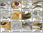 8 Curved Tube Noodle Brass Metal Beads Choose Size and Color