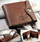 1pc Bifold Wallet Men's Genuine Leather Brown Credit/ID Card Holder Slim Purse