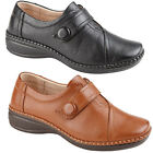NEW BOULEVARD LADIES  LEATHER FASHION  WIDE FITTING TOUCH FASTENING BAR SHOES