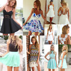 Womens Summer Bodycon Casual Floral Evening Sexy Party Cocktail Short Mini Dress