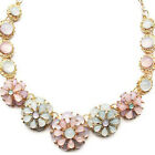 Women Fashion Necklace Chunky Crystal Candy Color Bib Choker Chain Jewelry Cheap