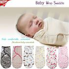 Unisex Newborn Baby Swaddling Blanket Infant Wrap Summer Sleep Bag 100% Cotton