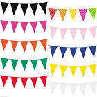 CHOOSE COLOUR BUNTING 10M METRE 20 FLAGS BANNER BIRTHDAY DECORATION PARTY