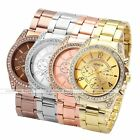 Geneva Women Fake 6-Hands Analog Crystal Case Quartz Alloy Band Wrist Watch Gift