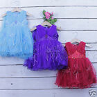 Baby Flower  Dress Girls Formal Party Dress Princess Age 0-24 Months
