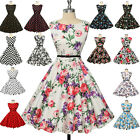 CHEAP Vintage Rockabilly Retro Swing 50's 60's pinup Housewife Prom Cotton Dress
