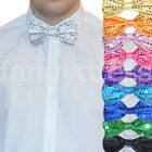 Bow Tie Sequin Sparkly Dickie Dicky Dance Clown Jazz Party Fancy Dress Accessory