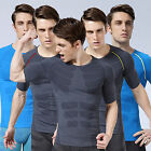 Mens Sport Compression Wear Under Base Layer Top Tight Skin Short Sleeve T-Shirt