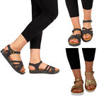 Ladies Sandals Womens Ankle Strappy Gladiator Platform Shoes Size 3 4 5 6 7 8
