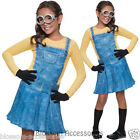 CK429 Female Minion Despicable Me 2 Girls Child Fancy Dress Up Costume Outfit