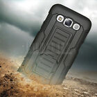 Rugged Armor Hybrid Impact Case Belt Clip Holster Stand Hard Cover For Samsung