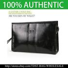 [OMNIA] MEN'S GENUINE LEATHER Clutch Bag Wrist(MB715)-Black