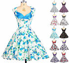 2015 Floral Vintage 50's Wedding Bridesmaid Party Prom Tea Dress Cotton New S-XL