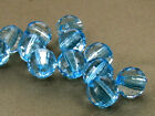 8mm 100/200/300/400/500pcs CLEAR BLUE FACETED PLASTIC ROUND BEADS TY2364