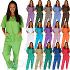 Medical Nursing Men Women Unisex Scrub Set Top Pants Hospital Clinic Uniform New