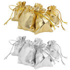 10 Small Drawstring Organza Wedding Party Favor Gift Bags /Candy Jewelry Pouches