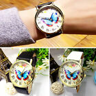 CHIC Fashion Leather Band Butterfly Style Womens Analog Quartz Wrist Watch new