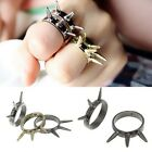 5 Pcs Retro Vintage Mens Womens Gothic Punk Biker Rivet Rings Jewellery Gift New