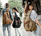 Preppy Style Backpack Shoulder Bag College Canvas Bag Retro Unisex Leisure Bag