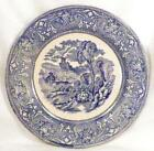 Antique Lerigi Guld of Spizzia Italy Transferware Plate Blue E M & Co Ox Cart