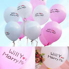 Lot 1/20/50pcs Round Balloons MARRY ME Propose Wedding Love Marriage Party Decor