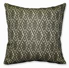 HC703a Dk Olive Beige Checker Diamond Jacquard Cotton Cushion Cover/Pillow Case
