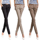 Sexy Pour Femme Stretch Skinny Jeans Pantalon Collant Slim Combat Style Jeggings